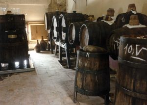 Very old casks and vats