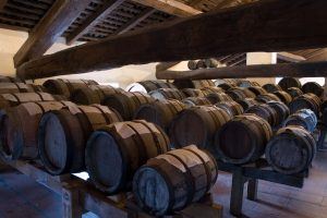 group of barrels in the attic
